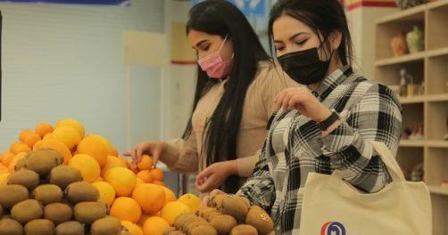 carrefour commerce achats fruits légumes