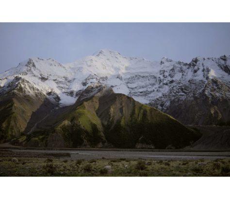 Mont Nansen Kirghizstan glacier Engilchek
