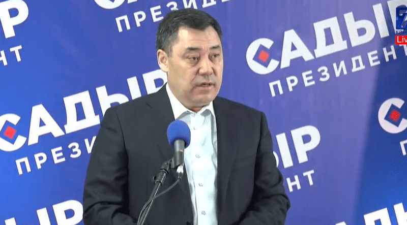 Sadyr Japarov Kirghizstan Président