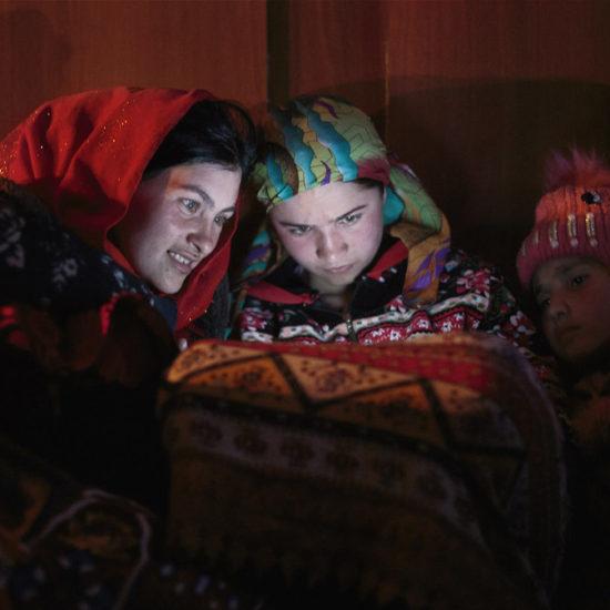 Panne de courant dans un village tadjik