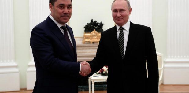 Sadyr Japarov Vladimir Poutine Relations internationales Kirghizstan