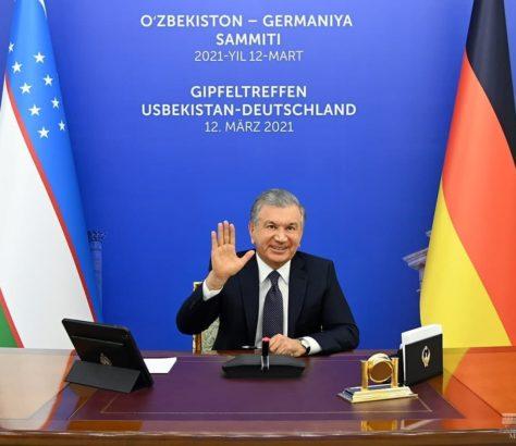Chavkat Mirzioïev Angela Merkel Ouzbékistan Allemagne rencontre