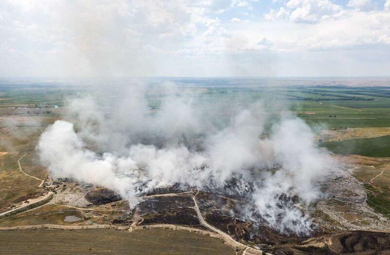 Décharge incendie Almaty Kazakhstan