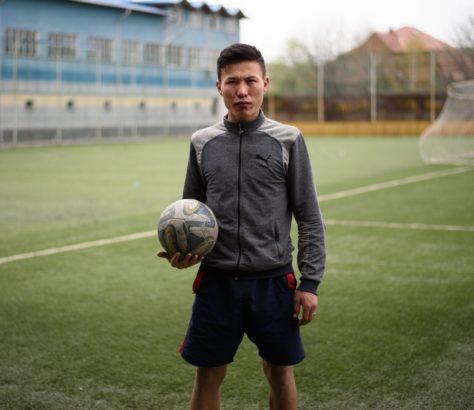 Kirghizstan Bichkek Football Portrait
