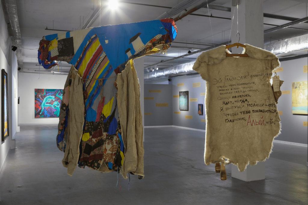 Kazakhstan Almaty Merouert Kalieva Exposition Le bateau naviguePeau de peintre Roustame Khalfine Aspan Gallery