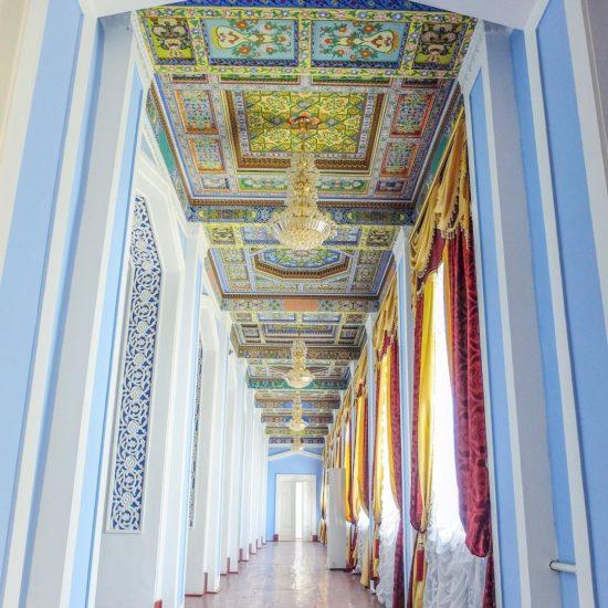 tadjikistan khoudjand palais peinture traditionnelle