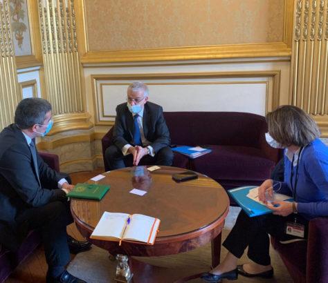 Hervé Maurey Chohrat Joumaïev Rencontre France Turkménistan Sénat