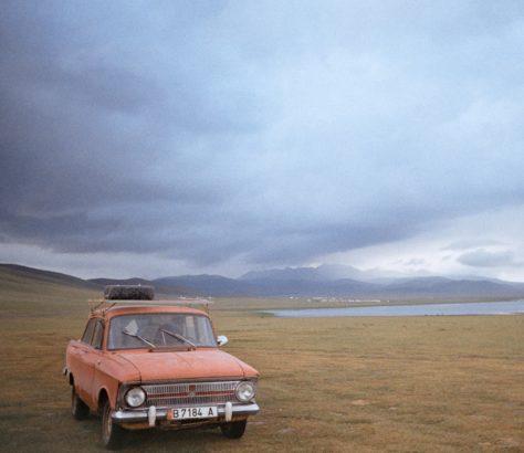 Kirghizstan voiture lac Son Koul soviétique