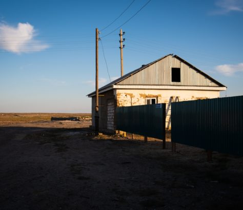 Kazakhstan Mer d'Aral maison