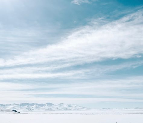 Kighizstan Neige Nuages Montagnes Glace