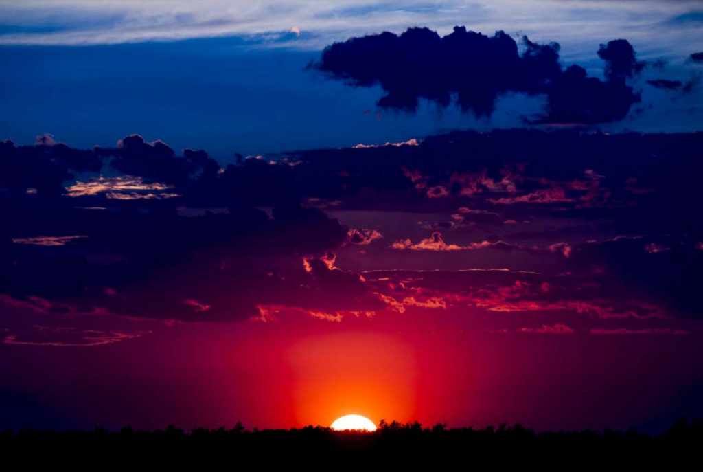 Kazakhstan Environnement Lac Bartogaï Coucher de soleil