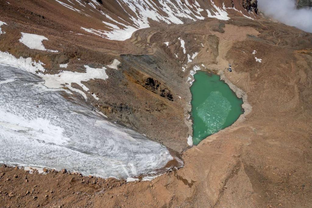 Kazakhstan Environnement Lac Bartogaï Glacier Moraine