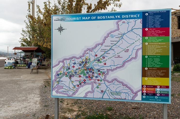 Ouzbékistan Bostanlyk Tourisme Economie
