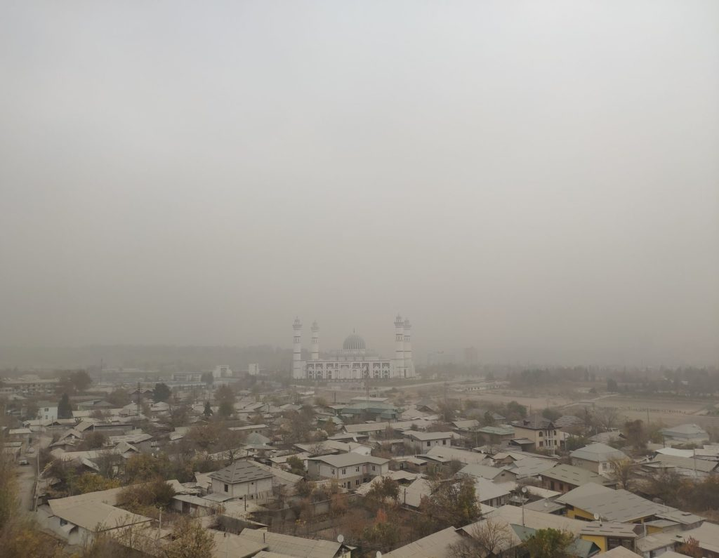 Tadjikistan Douchanbé Environnement Tempête de poussière