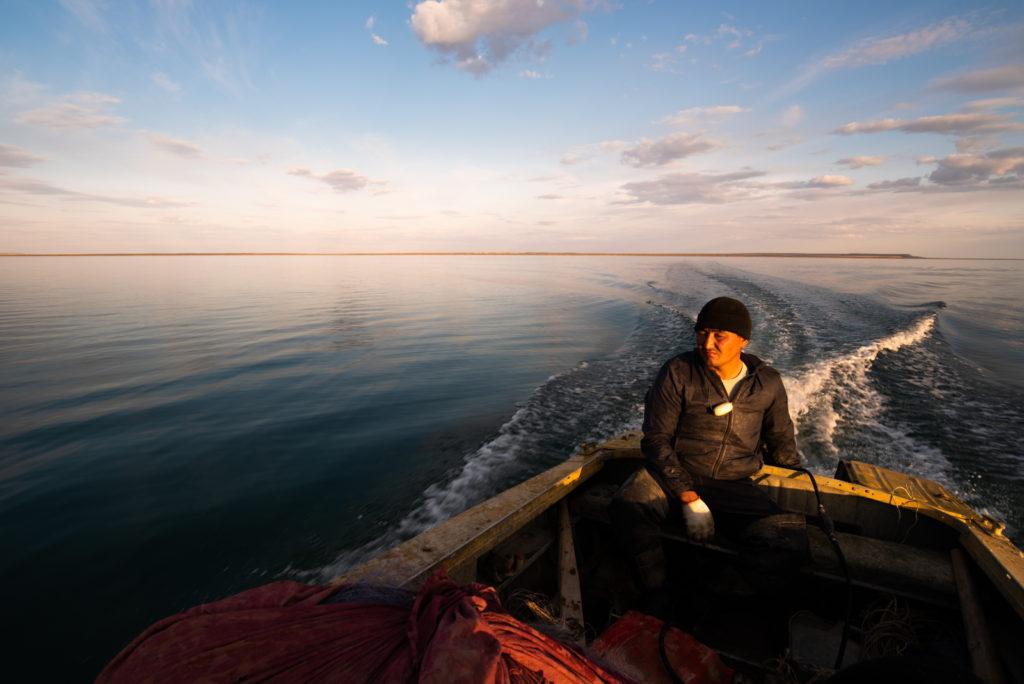 Aralsk mer d'Aral Kazakhstan Environnement Disparition Tastubek Pêcheur