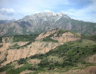 Ouzbékistan Montagne Tchimgan Tian Shan Cluster Montagne Station France