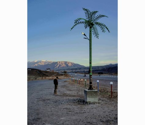 Aire d erepos Bichkek lac Issyk-Koul Kirghizstan