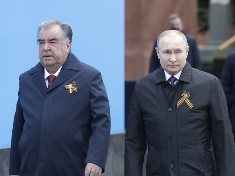 Emomali Rahmon Vladimir Poutine Visite Tadjikistan Russie