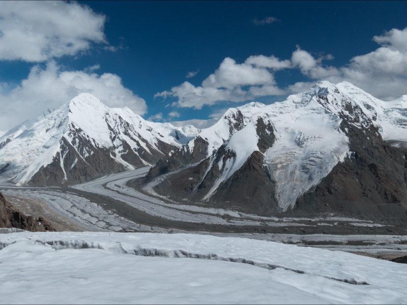 Glacier Tian Shan Asie centrale Réchauffement climatique