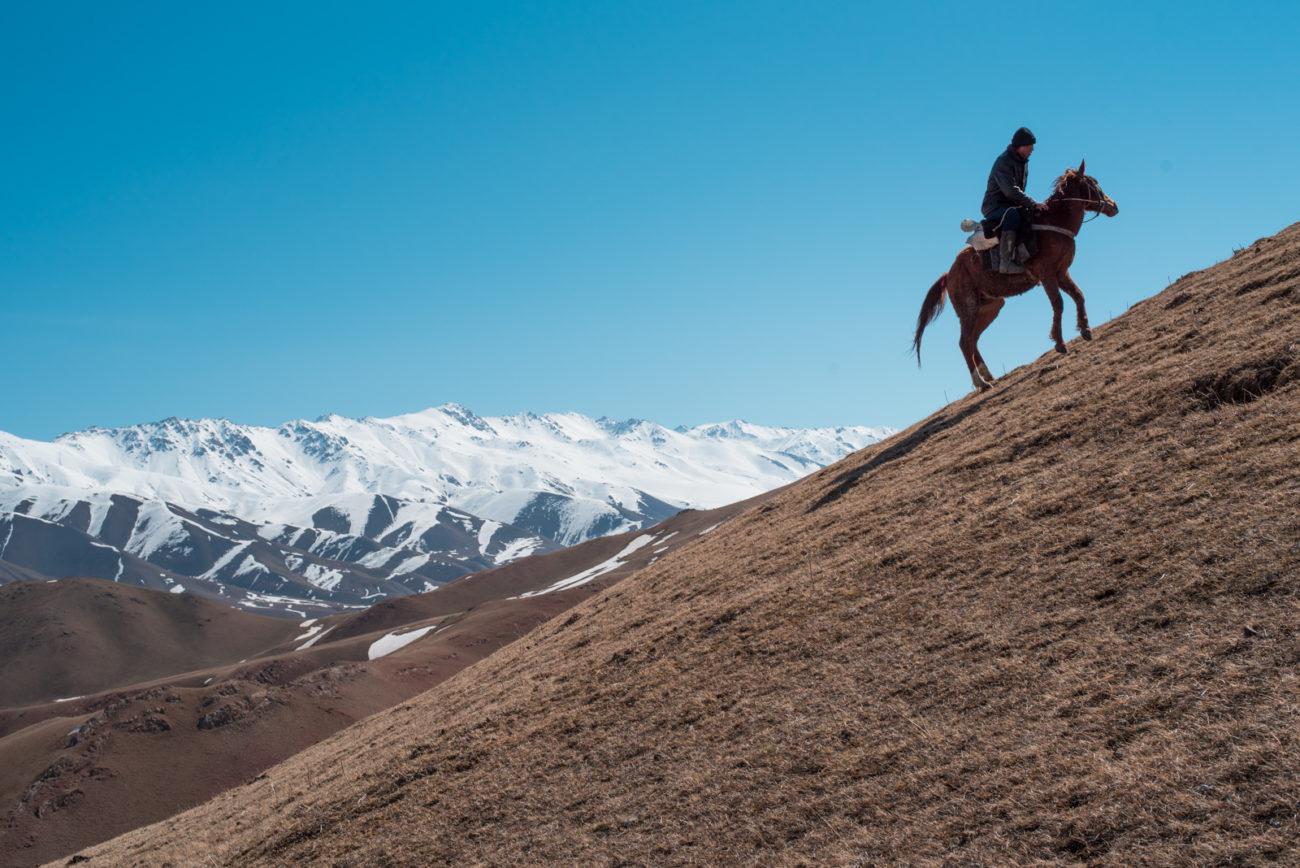 Antoine Béguier Kirghizstan steppes troupeaux montagne