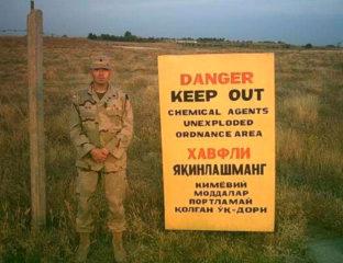 Soldat Américain Base Militaire Karchi Khanabad Agents Chimiques Ouzbékistan