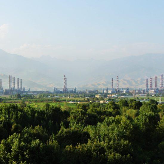 Tadjikistan Talco Production d'aluminium Industrie Cheminée