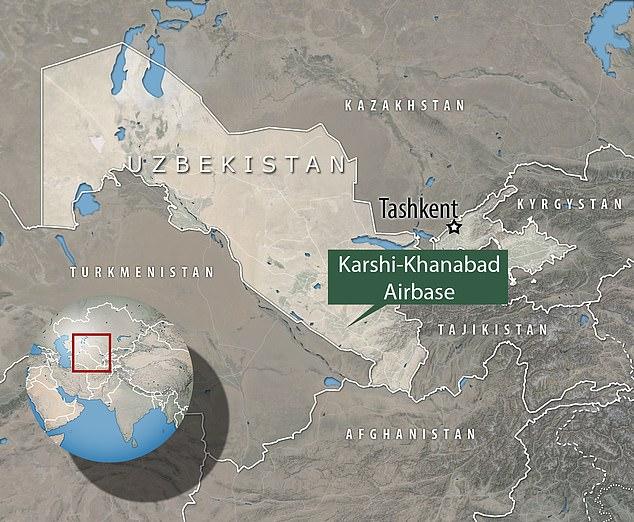 Base Militaire Karchi Khanabad Carte Ouzbékistan