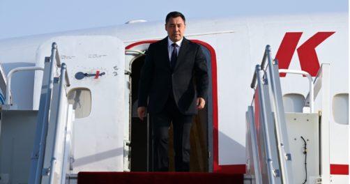 Sadyr Japarov Tadjikistan Emomali Rahmon Achgabat visite négociations Turkménistan Douchanbé mémorandum Gourbangouly Berdimouhamedov