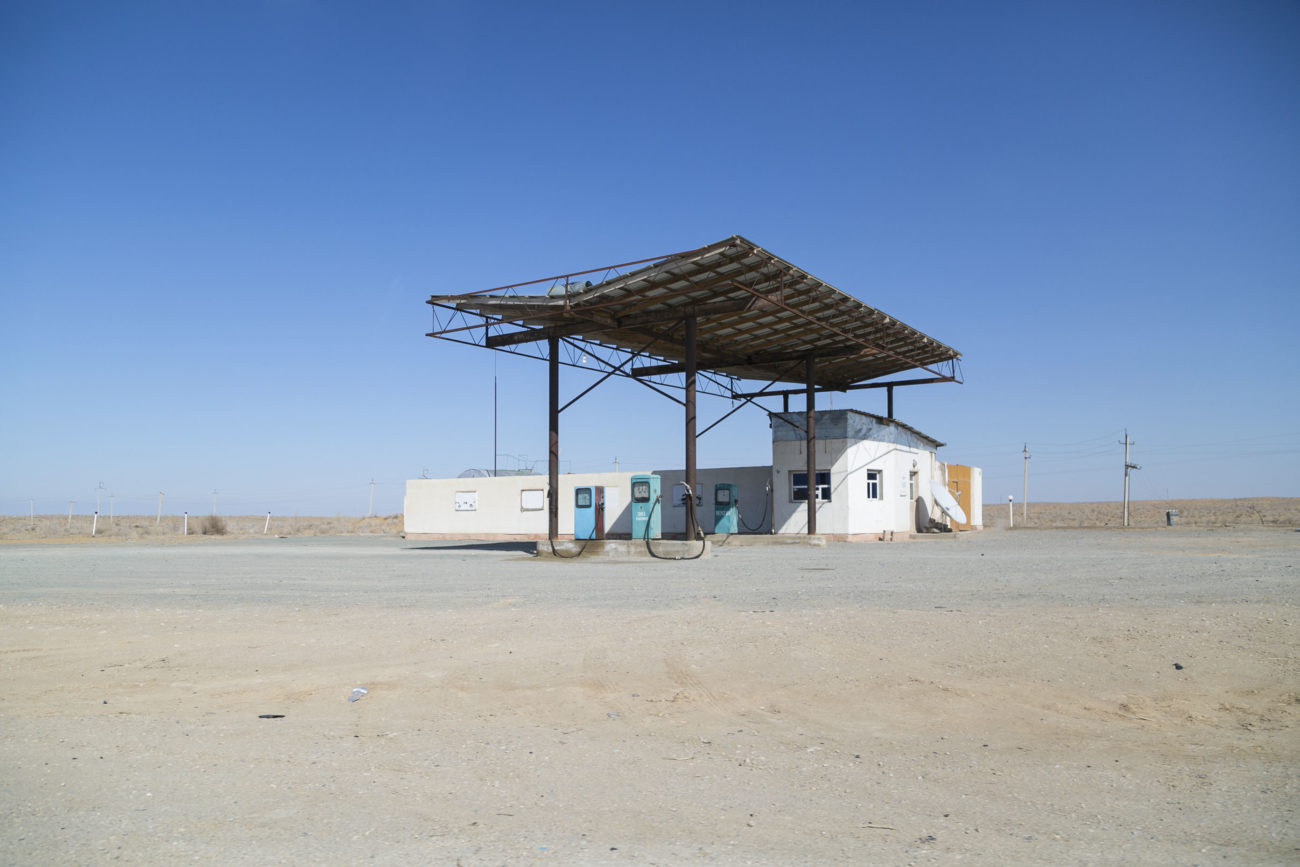 station-service, photo du jour, boukhara, khiva, route, Ouzbékistan
