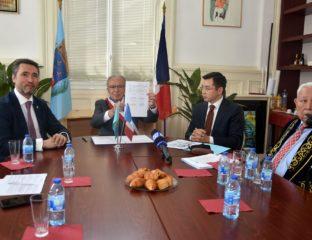 Signature Accord Amitié Kyzylorda Nogent-sur-Marne Jumelage France Kazakhstan