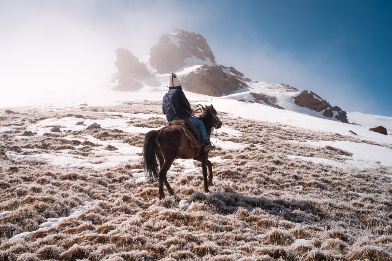 Photo du jour Kirghizstan Village Cheval Nomade