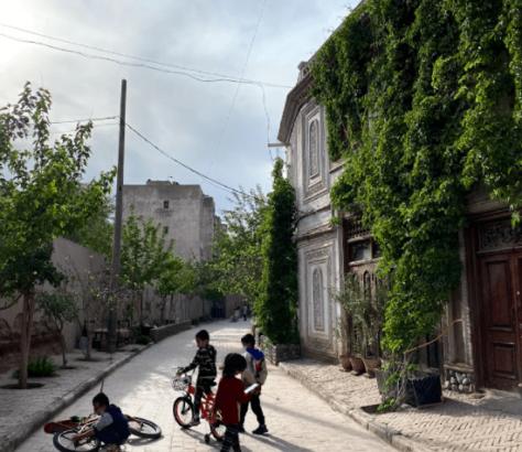 enfants Kachgar région ouïghoure ouest Chine