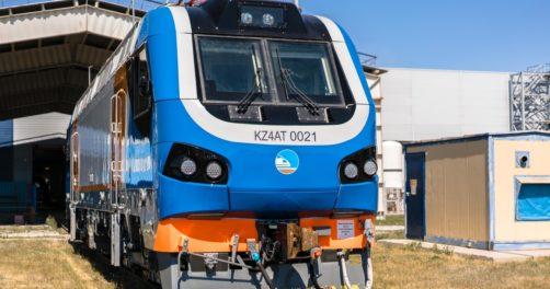 Kazakhstan Alstom Train Locomotive Voyageurs