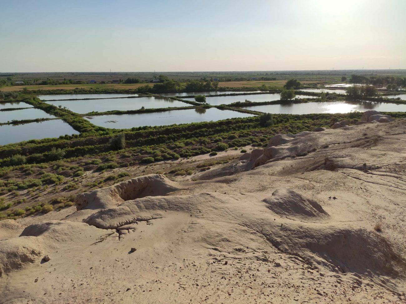 Ouzbékistan Plaine Frontière Cimetière