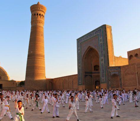 Taekwondo à Boukhara sport ouzbekistan