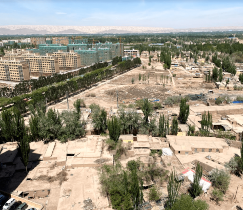 Vue du ciel Kachgar Xinjiang Chine bâtiments
