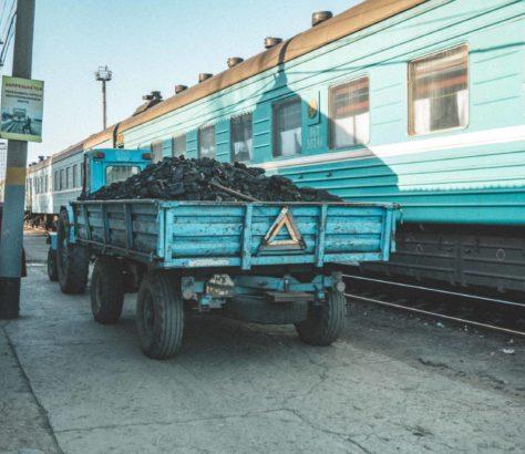 Train Charbon Kazakhstan Gare Photo du jour
