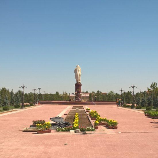 Ouzbékistan, Photo du jour, Samarcande, Statue, Parc