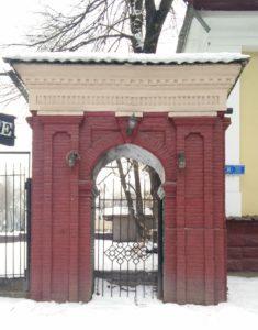Kazakhstan Almaty Ancien portail en briques