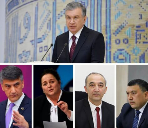 Chavkat Mirzioïev Alicher Kadyrov Maksoud Varisova Nazroullo Oblomourodov Bakhrom Abdoukhalimov Présidentielle Election Ouzbékistan