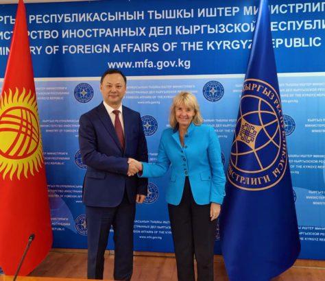 Terhi Hakala Union européenne Kirghizstan Visite officielle Rouslan Kazakbaïev