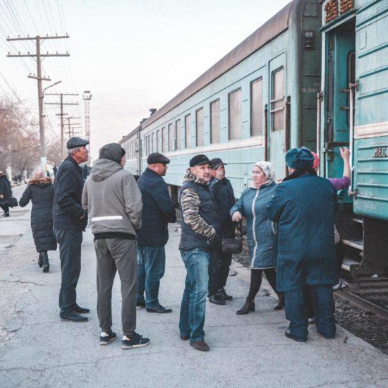 Manguistaou Kazakhstan Aktaou train gare