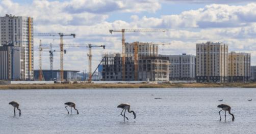 Lac Taldykov Nur-Sultan Kazakhstan Environnement Travaux