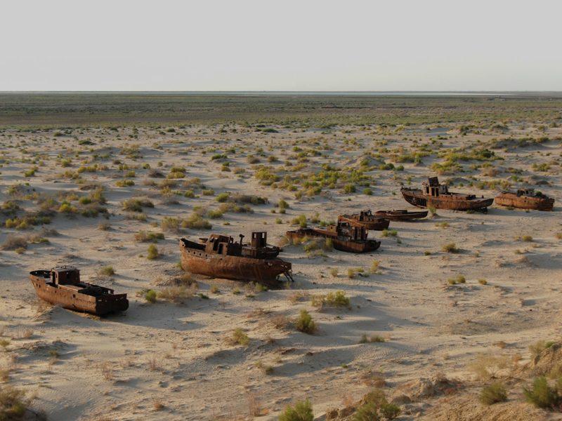 Photo du jour, Moynaq, Ouzbékistan, Bateau, Mer d'Aral, désert d'Aralkum
