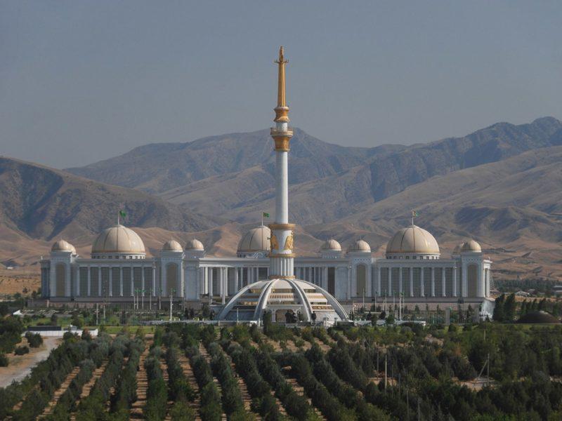 Marbre, Turkménistan, Achgabat, Centre de l'indépendance, Photo du jour