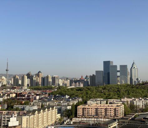 skyline xinjiang chine urumqi skyline