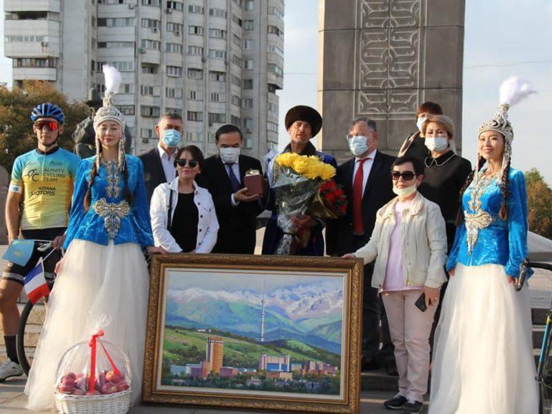 Laurent Mahé Kazakhstan Arrivée Almaty Rennes Vélo