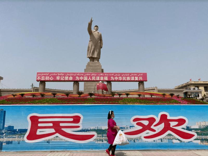 Statue Kachgar Mao Xinjiang Chine