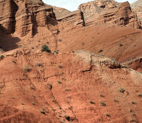 canyon ocre roche bichkek issyk koul kirghizstan