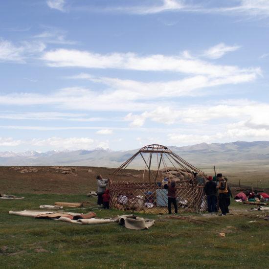 camp nomade kirghizstan Son koul